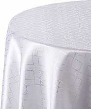 CALITEX Damask Tablecloth, White, Oval 180 x 240 cm