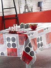 CALITEX Flag PVC Tablecloth 140x 140cm Grey