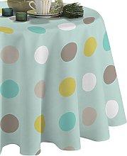 CALITEX Garnet Pop Dots PVC Tablecloth 140x