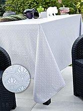 CALITEX Oilcloth Tablecloth 140 x 250 cm Grey