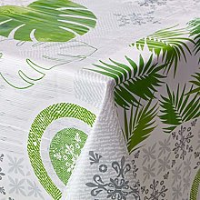 CALITEX Oilcloth Tablecloth Cocobeach Green (140 x