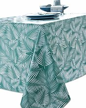 Calitex Oilcloth Tablecloth Rectangular Emerald
