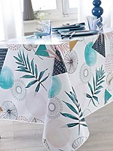 CALITEX Palma Oilcloth Tablecloth 140 x 200 cm Blue
