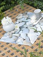 CALITEX Pebble PVC Tablecloth 140x 140cm Grey