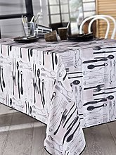 Calitex Rectangular Tablecloth, Polyester, Beige,