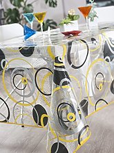 CALITEX Rectangular Translucent Tablecloth, PVC,