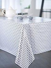 CALITEX Round Oilcloth Tablecloth, PVC, PVC, Zinc,
