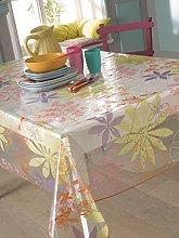 CALITEX Softwood Almond PVC Tablecloth 200x