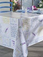 CALITEX Squares de Provence Rectangular Oilcloth