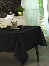 CALITEX Stacy Black Polyester Tablecloth 150 x
