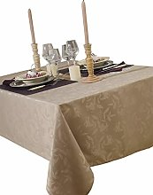 CALITEX Tablecloth Damassee Ombra Taupe 150 x 250