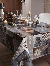 CALITEX Tablecloth PVC Grey 200x 140cm Natural