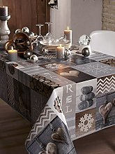 CALITEX Tablecloth PVC Grey 250x 140cm