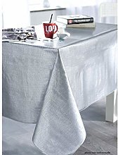 CALITEX Tablecloth PVC Weave Effect Silver 250 x