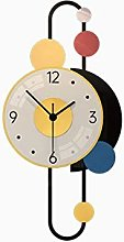 Call Clock Living Room Wall Clock With Lamp Large