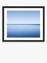 Calm - Framed Print & Mount, 56 x 66cm, Blue
