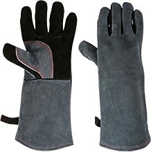 Calma Dragon Oven Gloves, Leather, Heat Resistant,