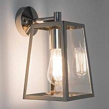 Calvi Outside Wall Light Lantern-Shaped Nickel