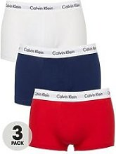Calvin Klein 3 Pack Low Rise Trunk - Red/Blue/White