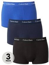 Calvin Klein 3 Pack Low Rise Trunk