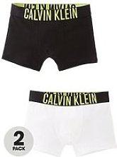 Calvin Klein Boys Logo Trunk (2 Pack) - White/Black