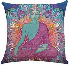 Calvinbi Free post Cotton Linen Decorative Pillow