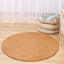CAMAL Carpets, Round Washable Coral Velvet