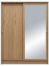 Camberley 2 Door Mirrored Sliding Wardrobe - Oak