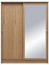 Camberley 2 Door Mirrored Sliding Wardrobe - Oak