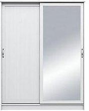 Camberley 2 Sliding Door Mirrored Wardrobe - White