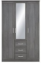 Camberley 3 Door, 3 Drawer Mirrored Wardrobe