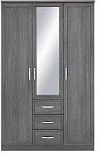 Camberley 3 Door, 3 Drawer Mirrored Wardrobe