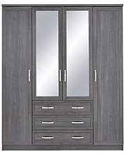 Camberley 4 Door, 3 Drawer Mirrored Wardrobe