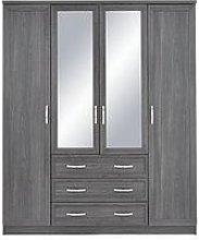 Camberley 4 Door, 3 Drawer Mirrored Wardrobe