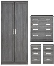 Camberley 4 Piece Package - 2 Door Wardrobe, 4