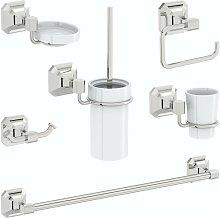 Camberley 6 piece master bathroom accessory set -