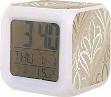 camden damask cream gold Electric Alarm Clock