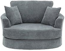 Camden Fabric Swivel Chair