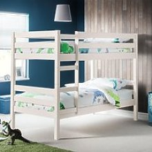 Camden White Wooden Bunk Bed Frame - 3ft Single