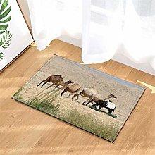 Camel And Horse. Door Mat Front Door Carpet