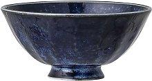 Camellia blue porcelain bowl