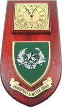 Cameronian Scottish Rifles Wall / Mess Clock