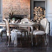 Camille Limewash Oak 180cm Dining Table