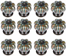Camisin 12Pcs Ceramic Door Knob Antique Pumpkin