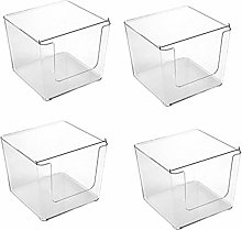 Camisin 4Pcs Clear Pantry Organizer Bins Household
