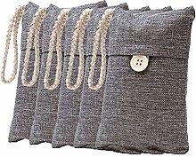 Camisin 5 Pack Natural Bamboo Charcoal Air