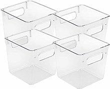 Camisin Plastic Storage Bins Clear Pantry