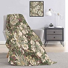 Camo Bedding flannel blanket Aloha Hawaiian