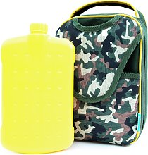 Camo Messenger Lunch Bag with Bottle - 650ml