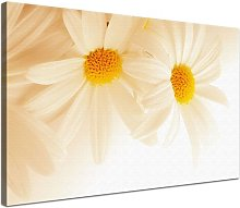Camomile Graphic Art Print on Canvas in Beige East